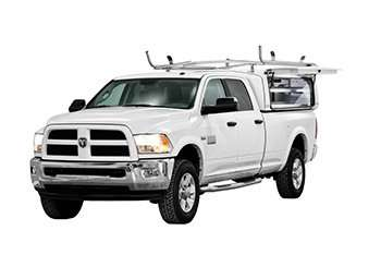 Dodge RAM with Compak and an accessory rack